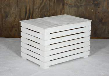 Coffee Table White Pallet Rectangular