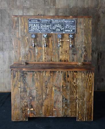 Pallet Wood Keg Bar