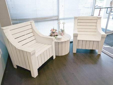 White Pallet Side Chair
