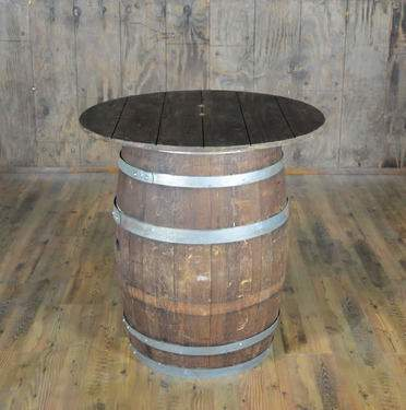 "Wine Barrel Cocktail Table 36"" Round"