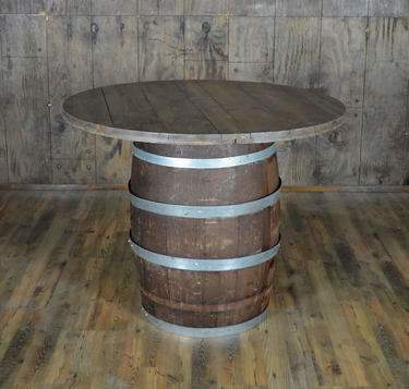 "Wine Barrel Cocktail Table 48"" Round"