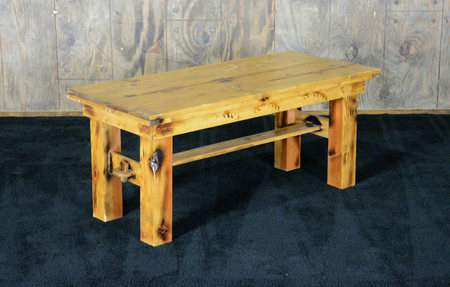 Golden Oak Vineyard Coffee Table