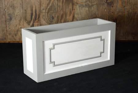 Flower Box Grey & White