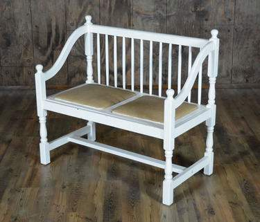 Mismatch White Collection - Bench w/ Back
