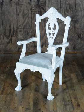 Mismatch White Collection - Chair w/ Arms