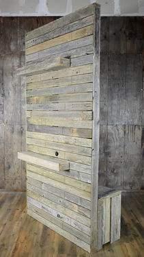 Vintage Pallet Wood Divider Wall