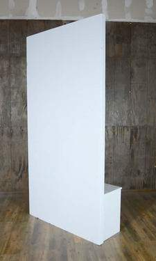 White Studio Divider Wall