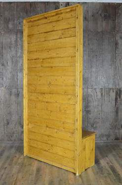 Golden Oak Divider Wall