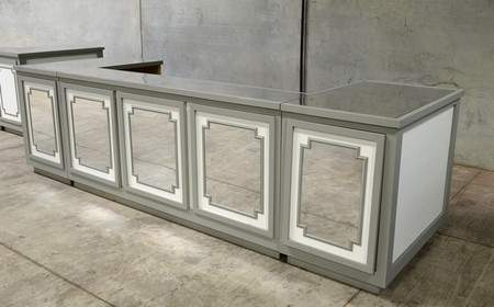 Classic Grey Mirrored Bar 13'