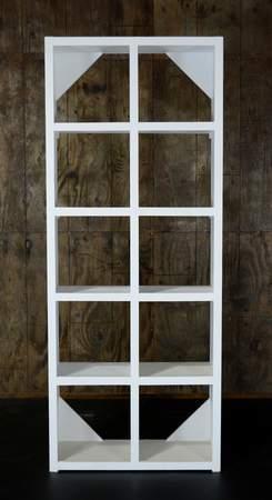 White Cube Shelf Bar Back
