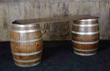 Wine Barrel Bar 6'