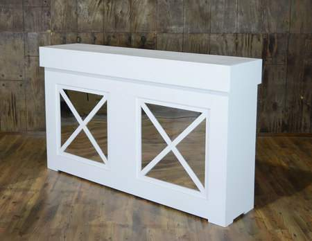 Shaker Facade White Bar 6'