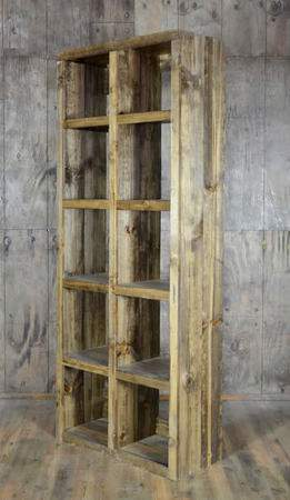 Fruitwood Cube Shelf Bar Back