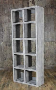 Driftwood Cube Shelf Bar Back