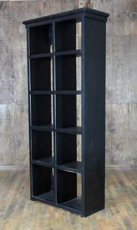 Black Cube Shelf Bar Back