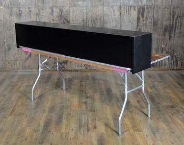 Tabletop Bar Black 6'