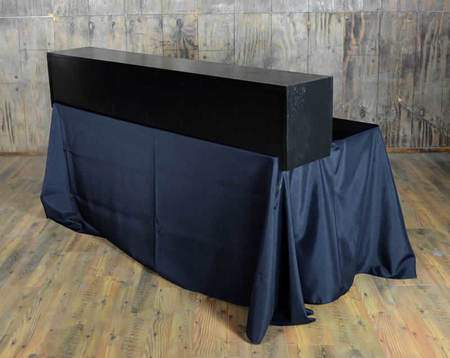 Tabletop Bar Black 6'