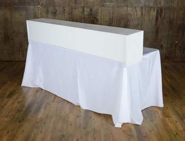 Tabletop Bar White 6'