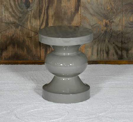 Grey Spool Side Table