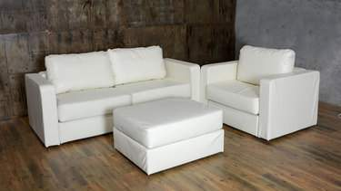 Lovesac White Lounge