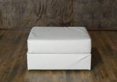 Lovesac White Lounge - White Ottoman