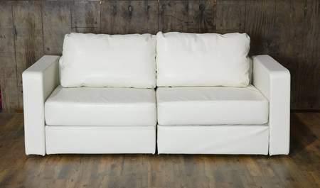 Lovesac White Lounge - White Loveseat