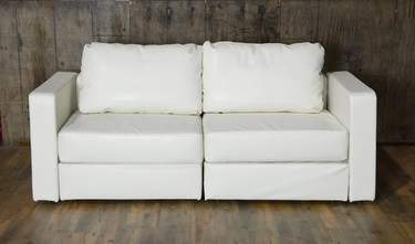 Lovesac White Lounge - White Loveseat