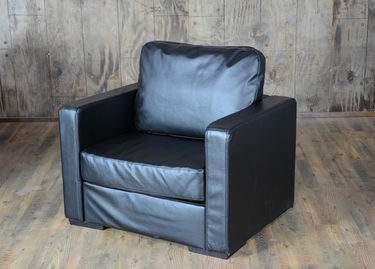 Lovesac Black Lounge - Black Chair