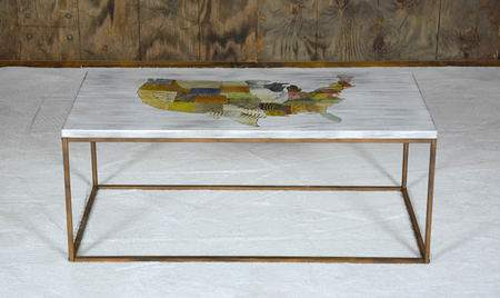 USA Map Coffee Table