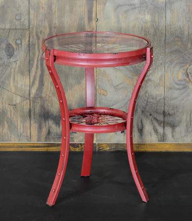 Red Bicycle Side Table