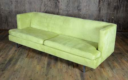 Mid-Century Green Couch