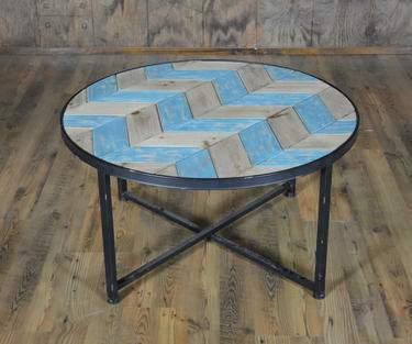 Rustic Chevron Coffee Table