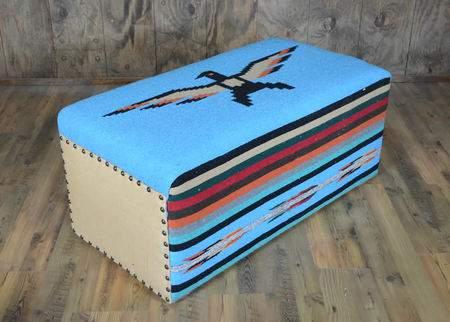 Thunderbird Ottoman Blue