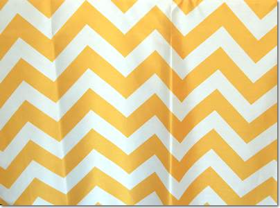 "Yellow Chevron - 90""x156"" Drape"