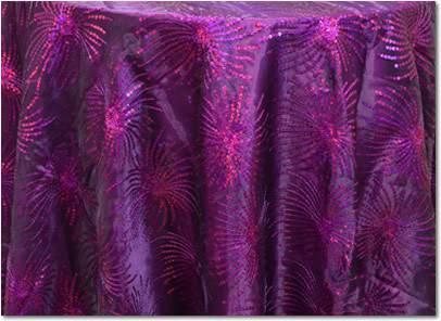 """Violet Fireworks - 87"""" Square"""
