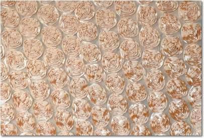 """Gold Rose Sheer - 108"""" Round"""
