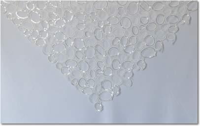 White Bubble Sequins