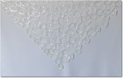 "White Bubble Sequins - 72"" Square"