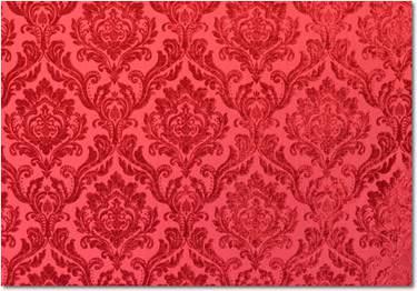 Crimson Velvet Damask