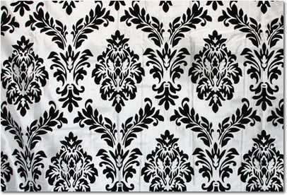 Black Velvet Damask