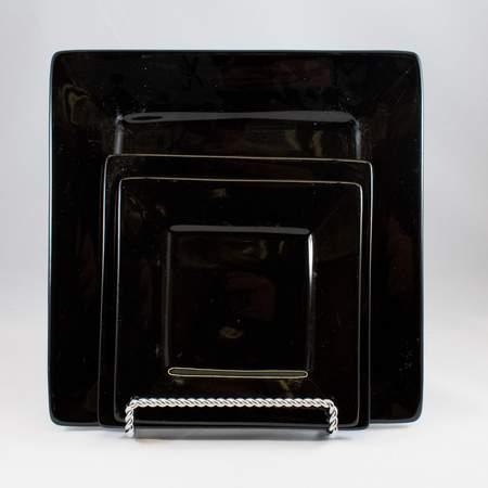 "Square Black 6"" Dessert Plate"