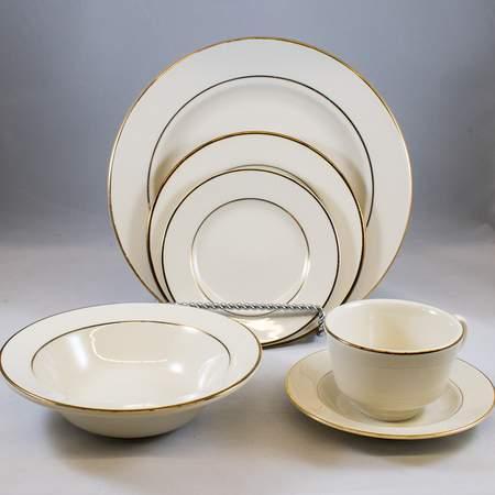 "Gold Rim 7"" Salad Plate"