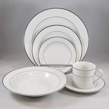"""Platinum Rim 7.5"""" Dessert Plate"""