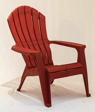 Plastic Red Adirondack Chair