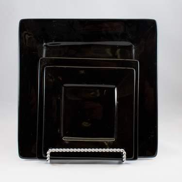 Square Plate - Black