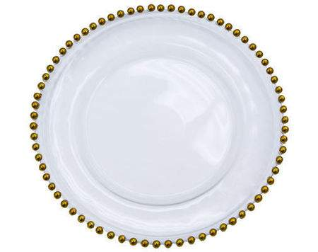 Charger Gold Bead Plate