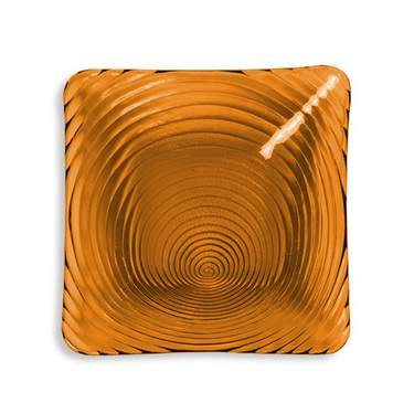 """Amber Swirl 11"""" Dinner Plate"""