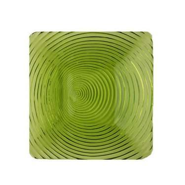 "Green Swirl 9"" Salad Plate"