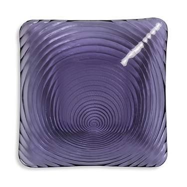 "Amethyst Swirl 11"" Square Plate"