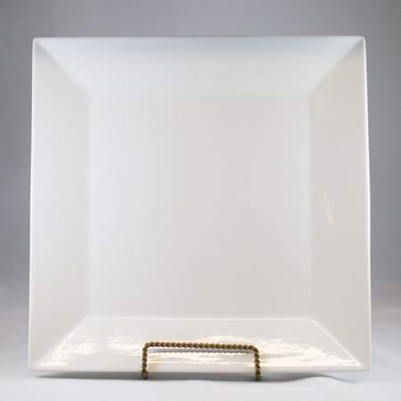 Square Plate - White